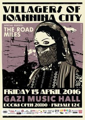 Villagers of Ioannina City + The Road Miles @ Gazi Music Hall - 15/4/16