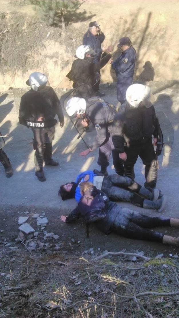 Νέα ωμή βία στη Χαλκιδική - Προσαγωγές και τραυματισμοί (pics)