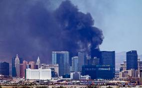 Two injured in fire on Las Vegas strip
