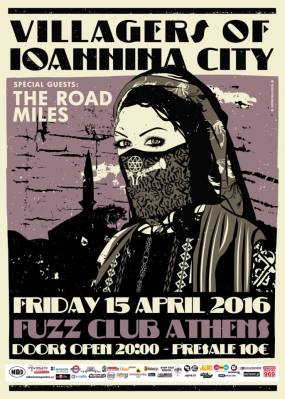 Villagers of Ioannina City + The Road Miles @ Fuzz Live Music Club - Paraskeui 15/4/16