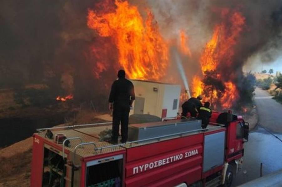 208356bbb8e Μεγάλη πυρκαγιά σε υπαίθρια αποθήκη ελαστικών στον Ταύρο - ERT Open